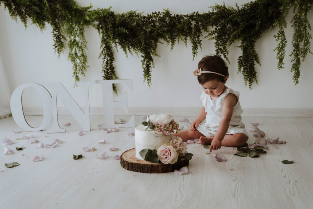 Fotografo Bambini Toscana Con Smash Cake: Ginevra