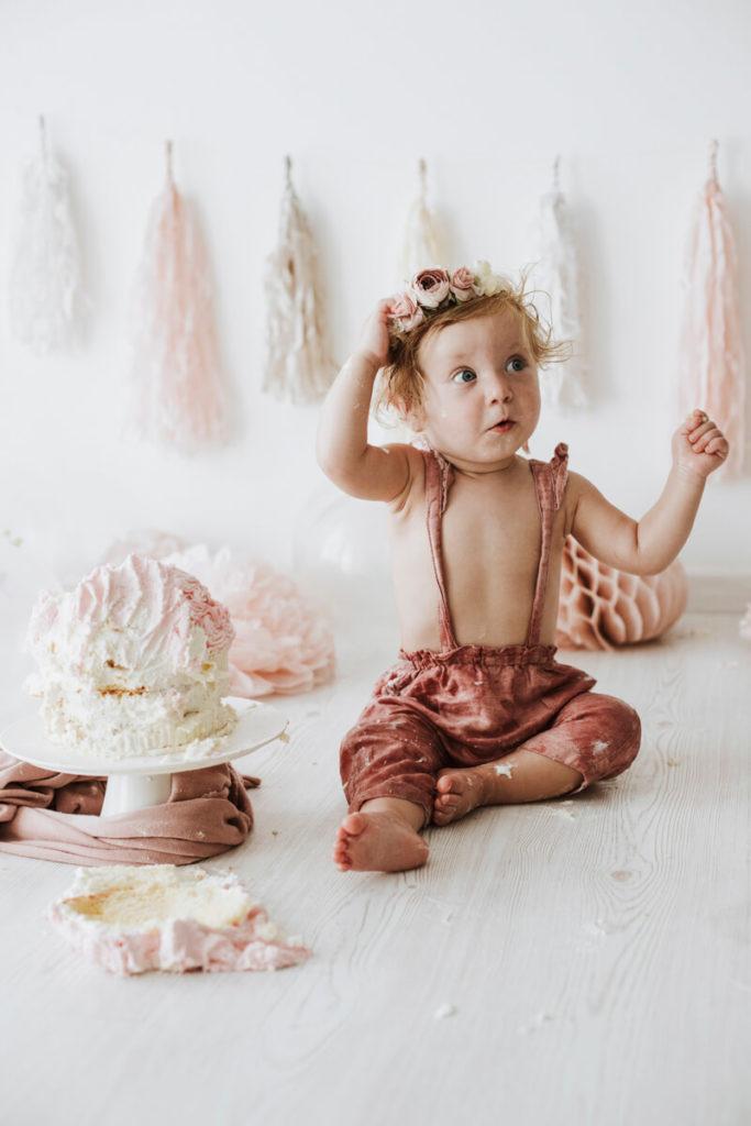 Fotografo Bambini Prato Con Smash Cake: Diletta