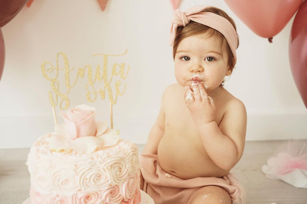 Fotografo Primo Compleanno Monsummano Terme - Smash Cake Anita